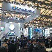 中国で開催される国際展示会風景です