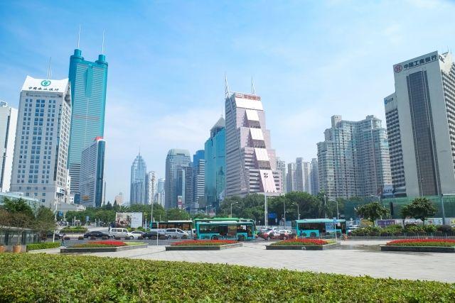 深圳の街並み